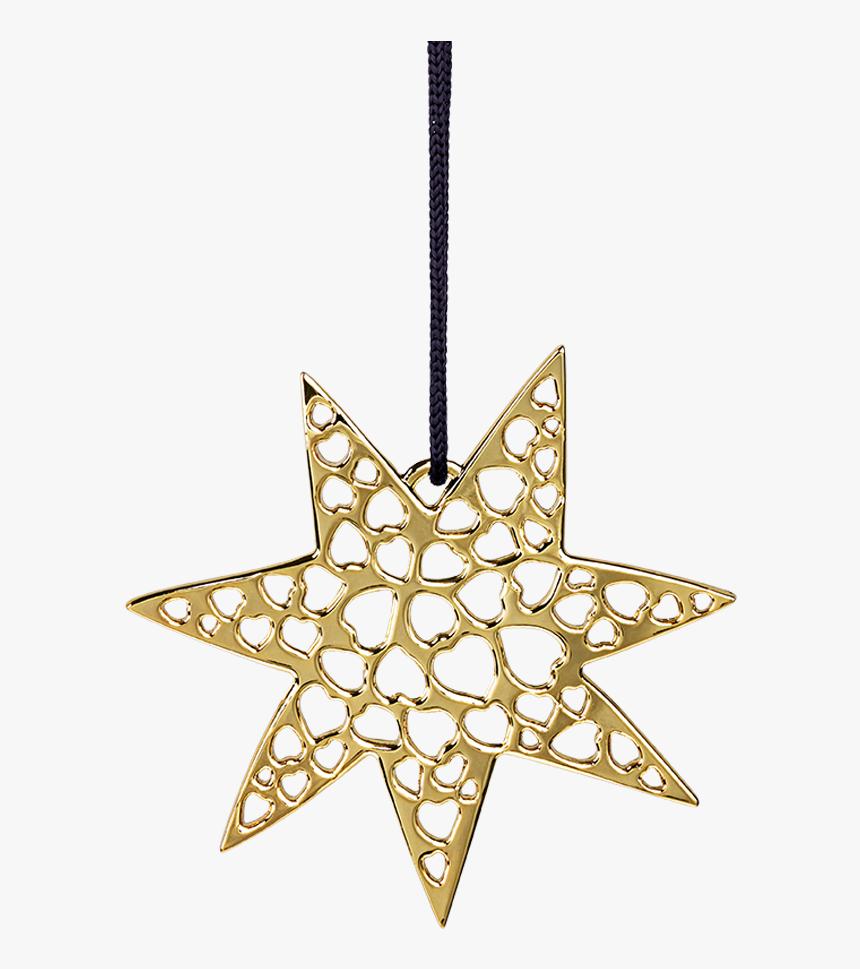 Heart Star H7 Gold Plated Karen Blixen - Christmas Decoration Star Png, Transparent Png, Free Download
