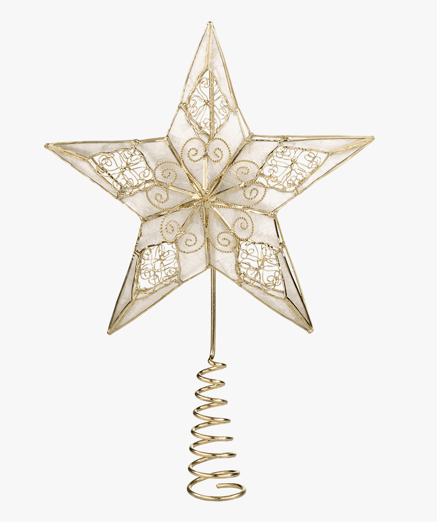 "Tree Top ""star With Filigree Decorations - Christmas Ornament, HD Png Download, Free Download"