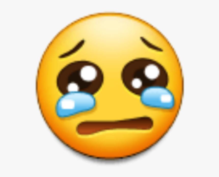 #sad #sademoji #emoji #yellow #tears #crybaby #cry - Smiley, HD Png Download, Free Download