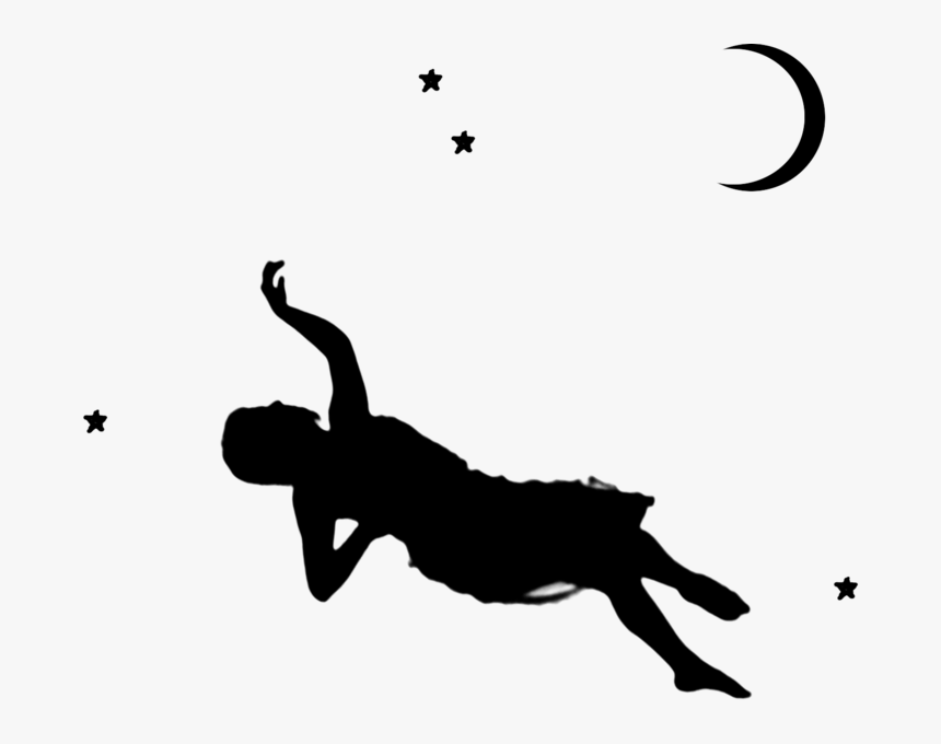 Woman Falling Png - Silhouette Of Woman Falling, Transparent Png, Free Download