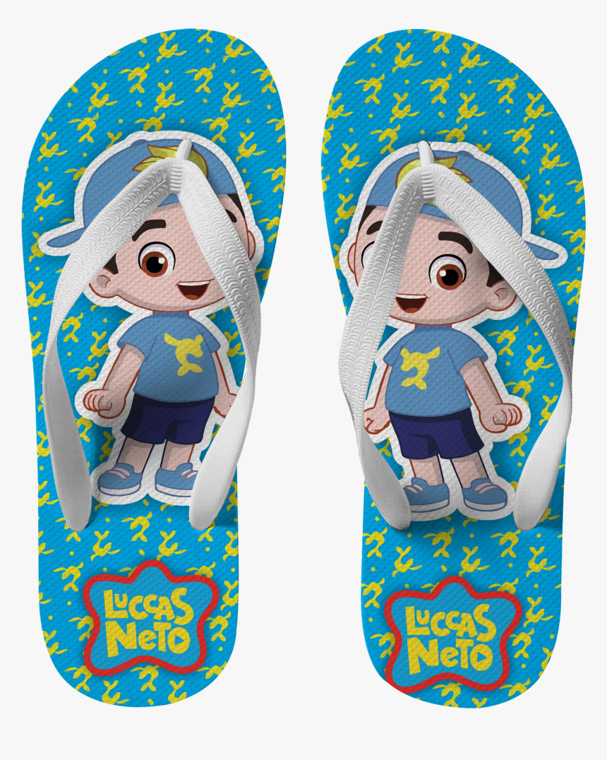 Estampa Chinelo Luccas Neto Hd Png Download Kindpng