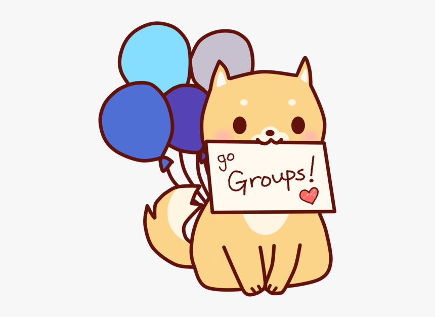 Facebook Groups Dog Cute Art Flat Design Vector Dog Cartoon Hd Png Download Kindpng