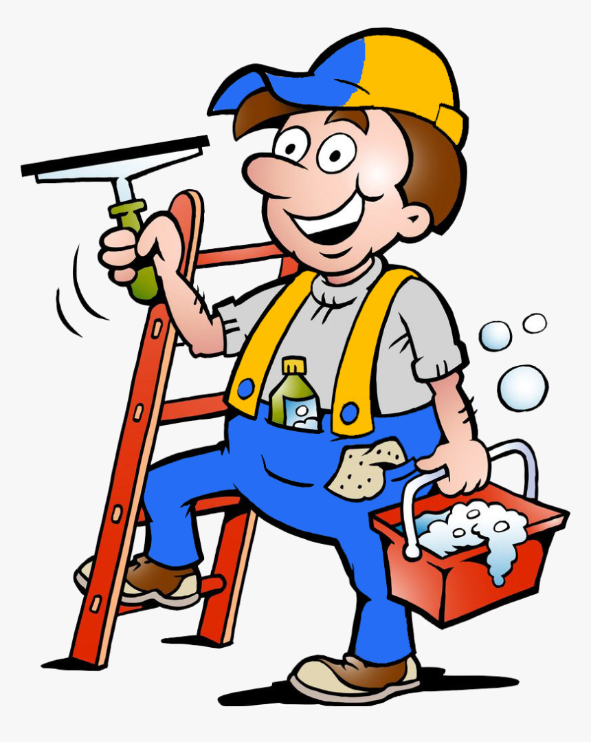 They Are Also Expected To Wash Dishes, Clean Bathrooms - Clipart Window Cleaner, HD Png Download, Free Download