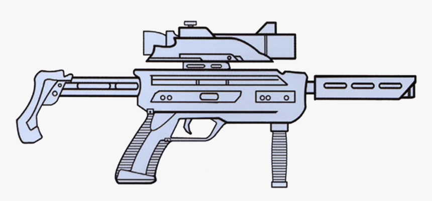 Ok-98 Blaster Carbine - Star Wars Gun Drawing, HD Png Download, Free Download