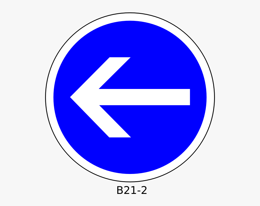 Left Direction Only Traffic Order Sign Vector Graphics - Traffic Signs In Arabic Learning, HD Png Download, Free Download