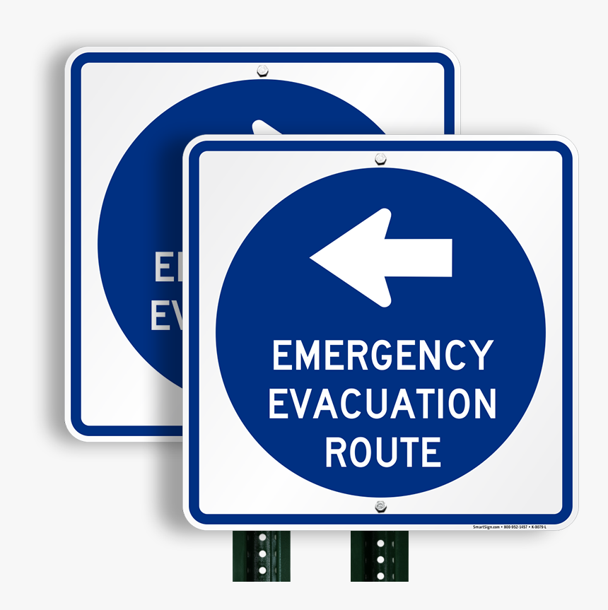 Hurricane Evacuation Sign, HD Png Download, Free Download