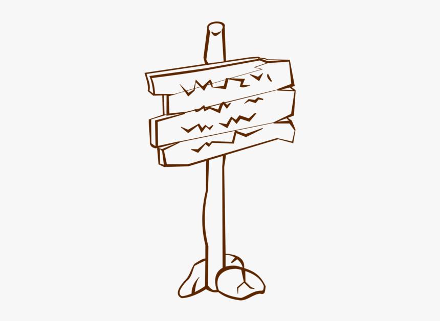 Line Art,angle,symbol - Sign Post Clip Art, HD Png Download, Free Download