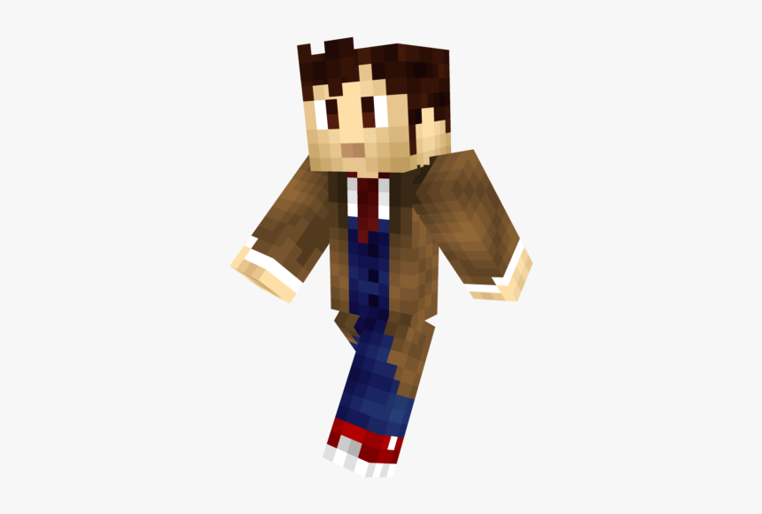 10th Doctor Minecraft Skin, HD Png Download, Free Download