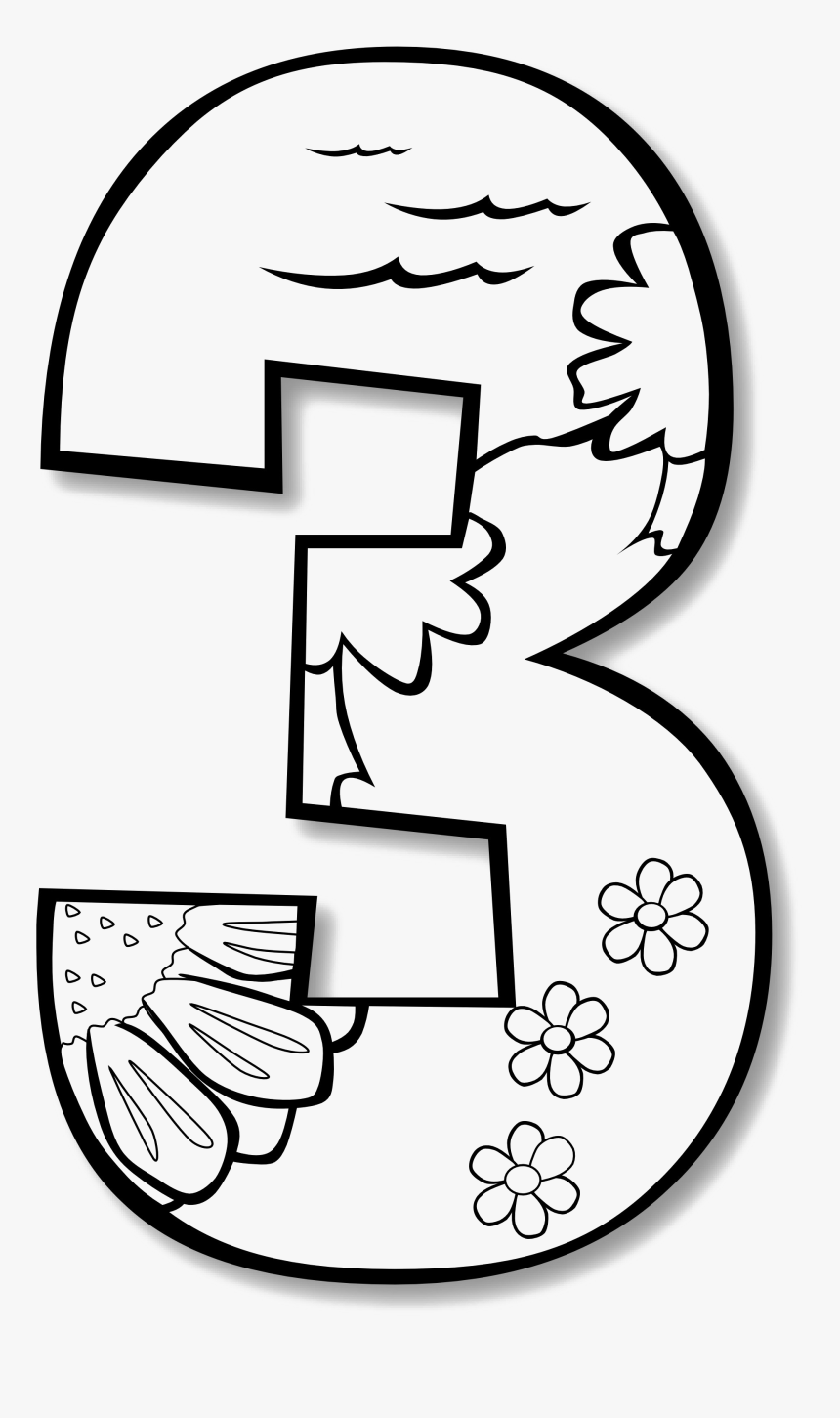 3 Number Png Picture - Creation Numbers Coloring Page, Transparent Png, Free Download