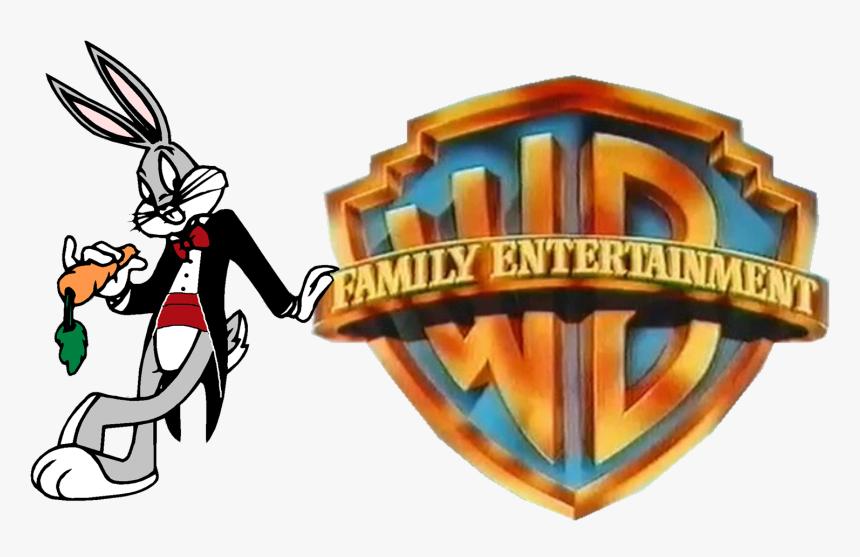Warner Bros Family Entertainment Logo - Bugs Bunny Warner Bros Family Entertainment, HD Png Download, Free Download