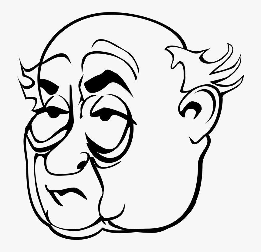Misogyny Eye Face Woman Cartoon - Older Man Face Drawing, HD Png Download, Free Download