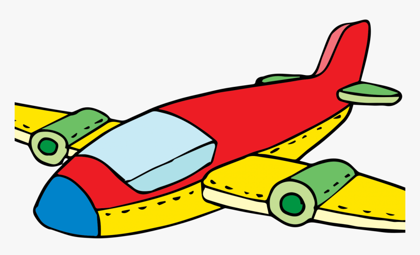 Airplane Clipart Colorful - Cartoon Jet Clip Art, HD Png Download, Free Download