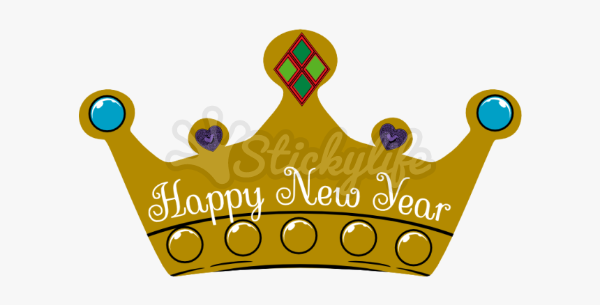 Happy New Year Decal - Happy New Year Crown Png, Transparent Png, Free Download