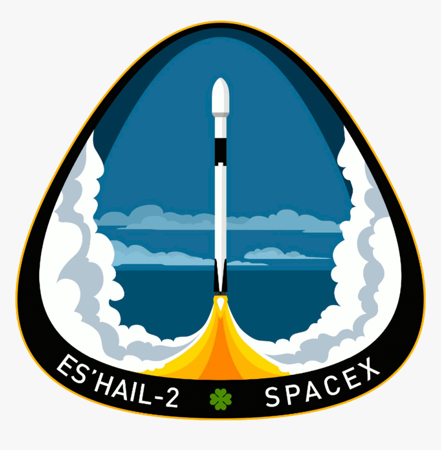 Spacex Es Hail Mission Patch, HD Png Download, Free Download
