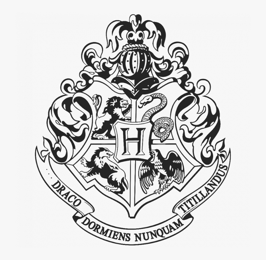 Hogwarts Logo Png Hogwarts Crest Harry Potter Coloring Pages