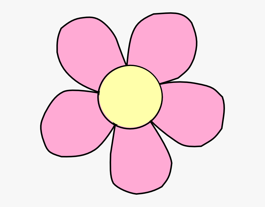 Real Flower Clip Art Free Submited Images Pic2fly - Flower With 5 Petals Clipart, HD Png Download, Free Download