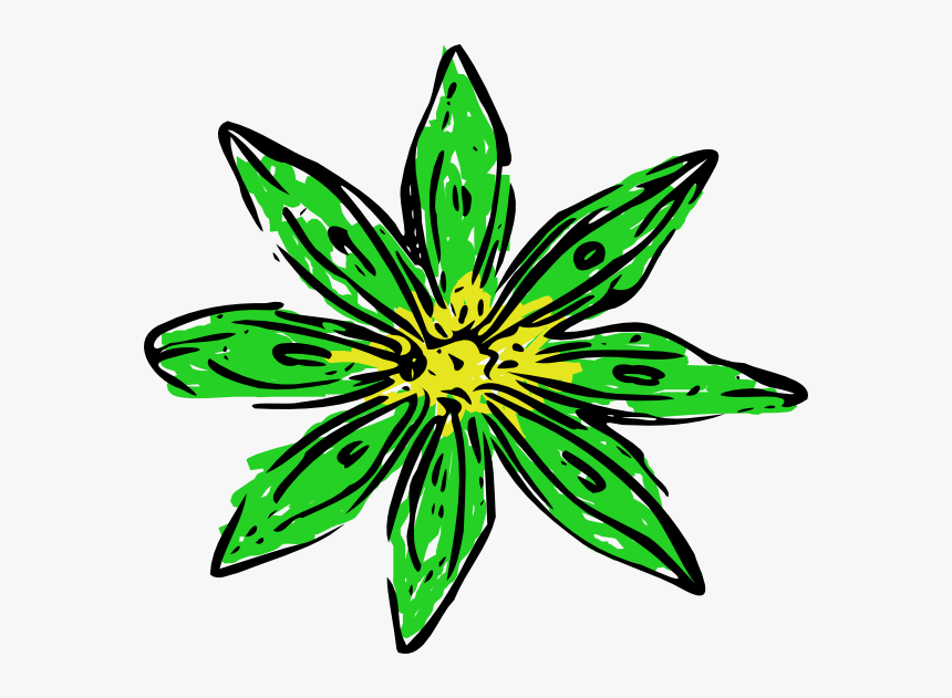 Green Yellow Flower Clipart - Holiday Clipart Transparent Background, HD Png Download, Free Download