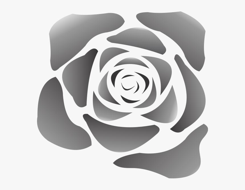 Black Rose Png Clip Arts - Cartoon White Rose Png, Transparent Png, Free Download