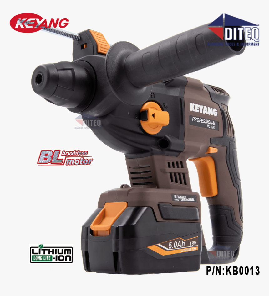 18v Sds-plus Cordless Rotary Hammer Drill Kit - Cordless Rotary Hammer Drill Sds, HD Png Download, Free Download