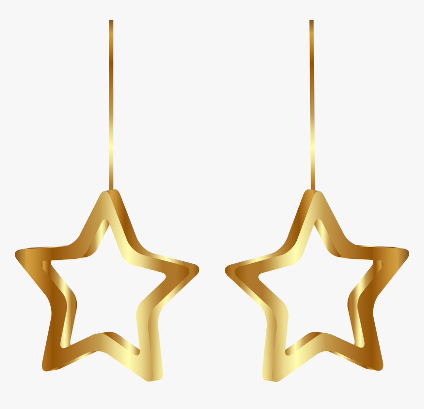 Decoration Clipart Christmas Star - 2 Christmas Stars Clipart, HD Png Download, Free Download