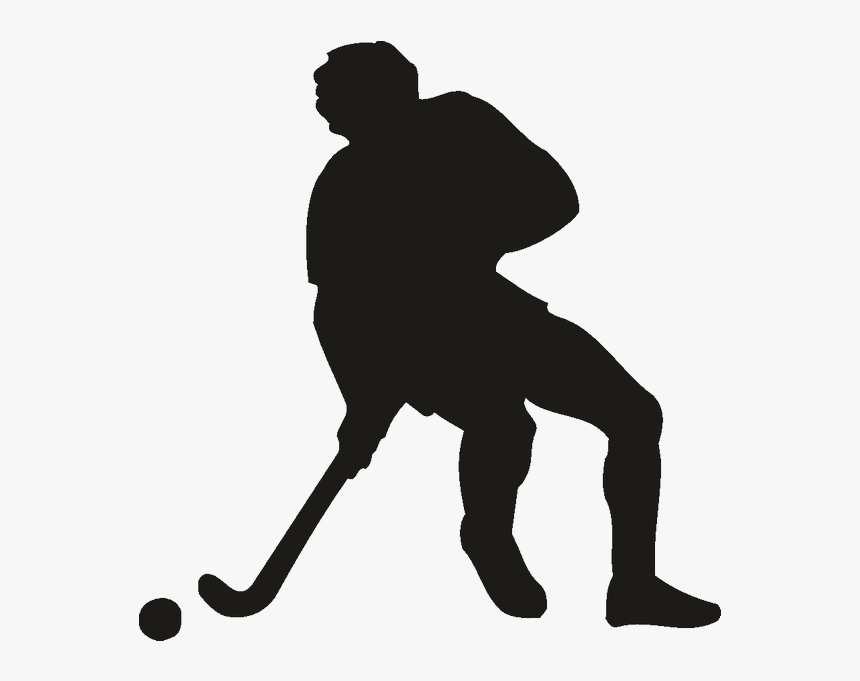 Ice Hockey Wall Decal Sport Field Hockey - Field Hockey Hockey Silhouette, HD Png Download, Free Download