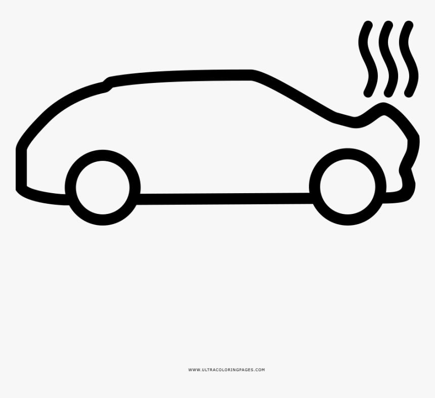 Car Accident Coloring Page - Accidentes Automovilisticos Png Dibujo, Transparent Png, Free Download