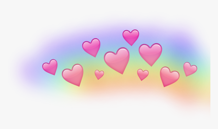 #rainbow #heart #crown - Snapchat Heart Crown Png, Transparent Png, Free Download