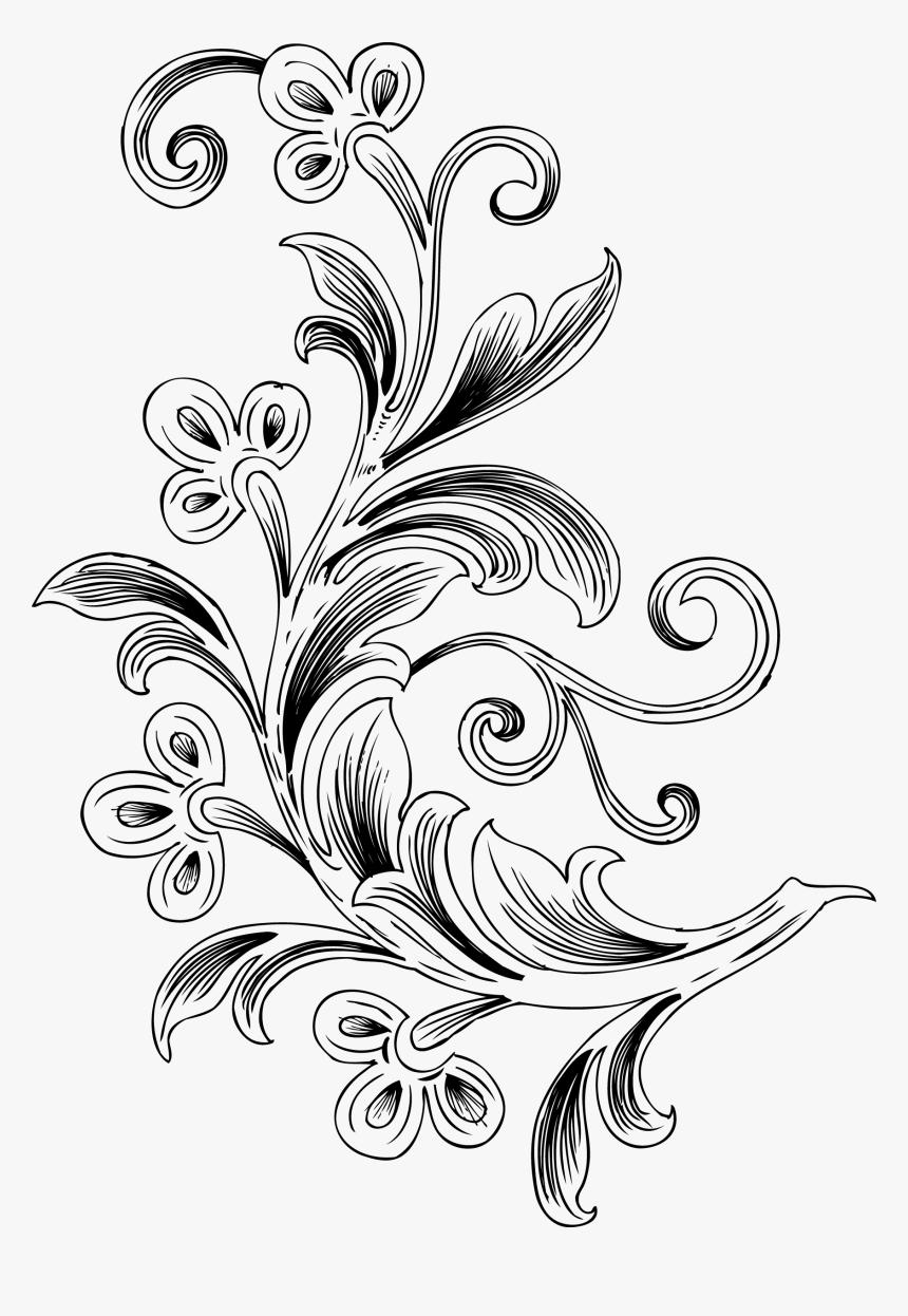 Free Floral Vector , Png Download   Background Batik Png ...