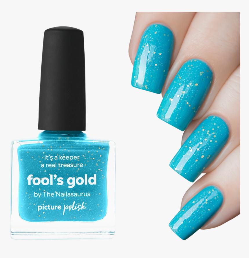 """Nail Polish Fool""""s Gold - Nail Polish, HD Png Download, Free Download"""