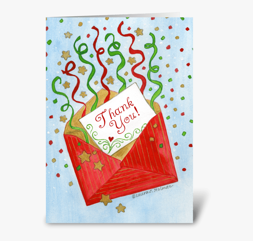 Christmas Gift Red Envelope Thank You Greeting Card Animated Thank You Cards In Envelope Giphy Hd Png Download Kindpng