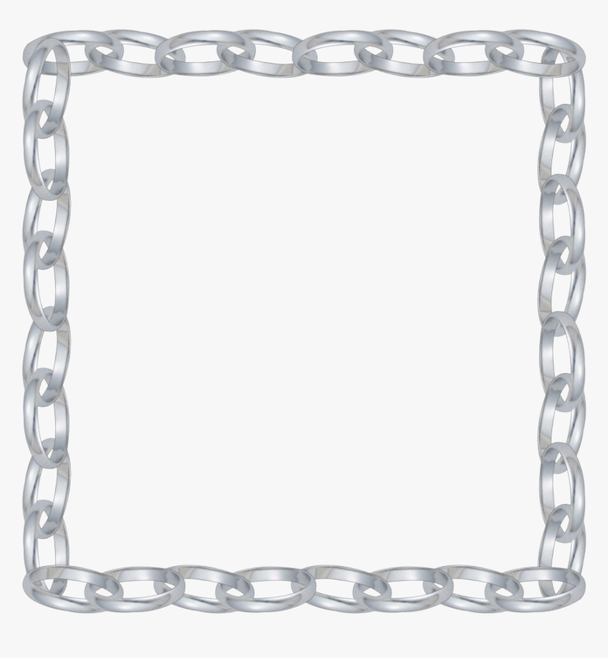 #mq #silver #chains #chain #frame #frames #border #borders - Silver Border Png Transparent, Png Download, Free Download