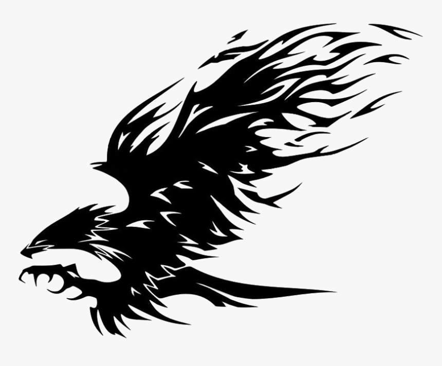 Eagle Tattoo Png Pic - Tribal Eagle Tattoo, Transparent Png, Free Download