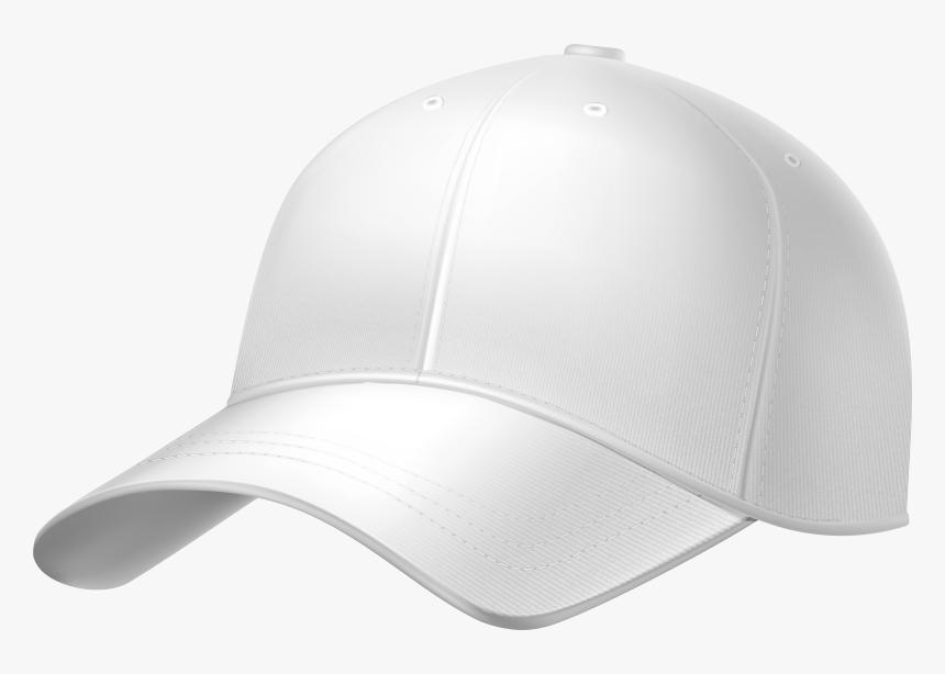 White Plain Baseball Cap Png Clipart - White Baseball Cap Png, Transparent Png, Free Download