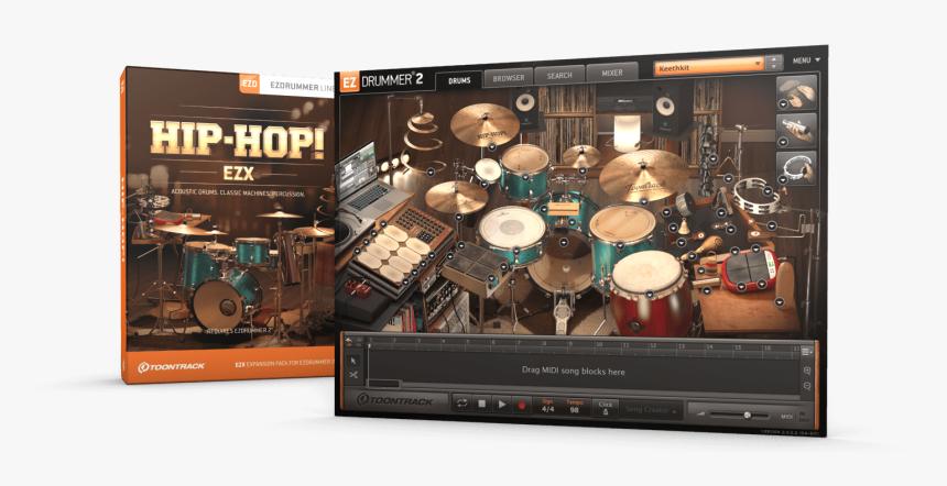 Toontrack Ezdrummer 2 Hip-hop Ezx Expansion Pack - Ezdrummer Hip Hop Expansion, HD Png Download, Free Download