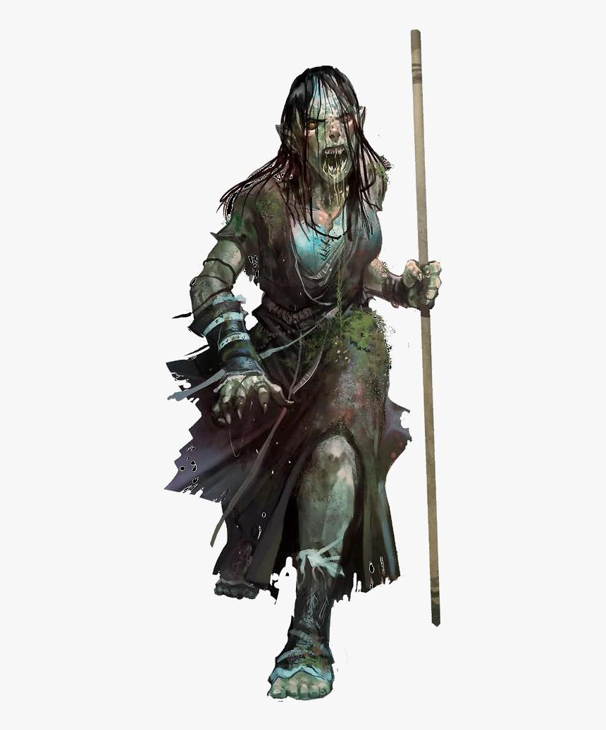 F Zombie Staff High Fantasy, Fantasy Rpg, Fantasy World, - Earth Genasi Druid Female, HD Png Download, Free Download