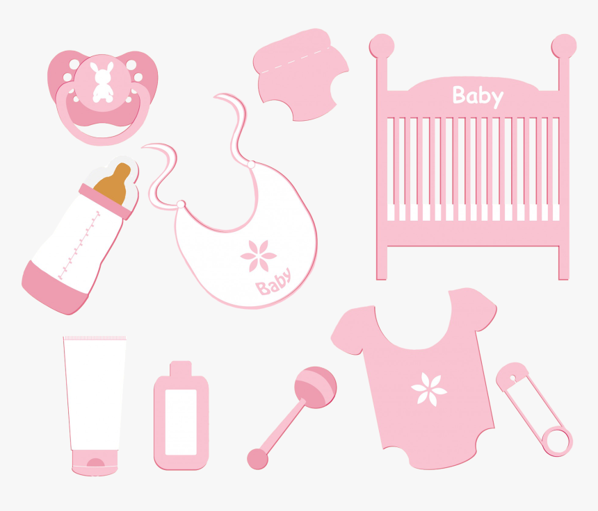 Baby Girl Accessories Clipart Png - Baby Clip Art, Transparent Png, Free Download