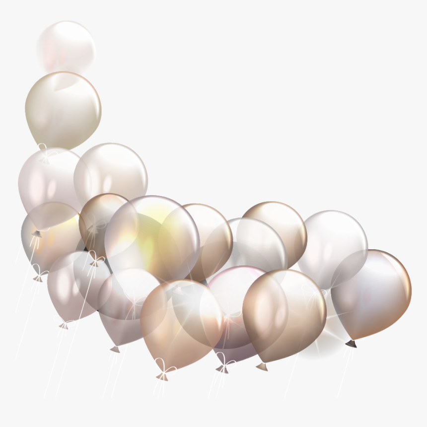 Gold And Silver Balloon Png, Transparent Png, Free Download