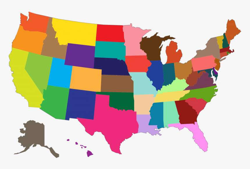 Map Of Us Clipart Clip Royalty Free Us Map Clipart - Transparent United States Map Clipart, HD Png Download, Free Download