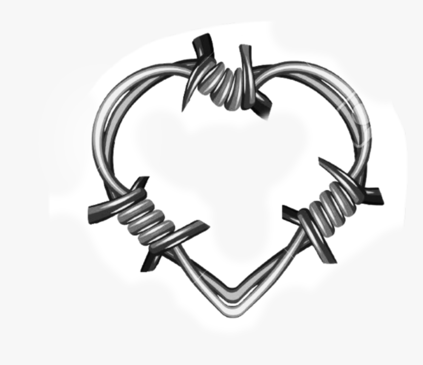 ##heart #barbwire - Heart Barbed Wire Tattoo, HD Png Download, Free Download