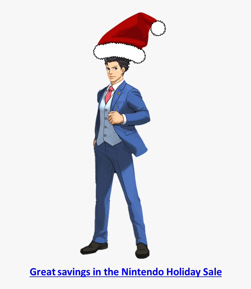 Phoenix Wright Ace Attorney Christmas Sale Capcom Nintendo - Ace Attorney Phoenix Wright Png, Transparent Png, Free Download