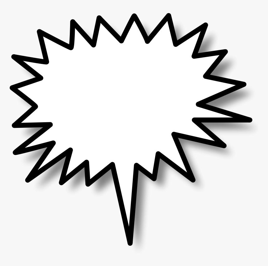 Transparent Think Bubble Clipart - Star Burst Clip Art, HD Png Download, Free Download