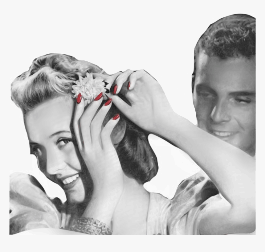 Vintage Photo Of Man With Woman, HD Png Download, Free Download