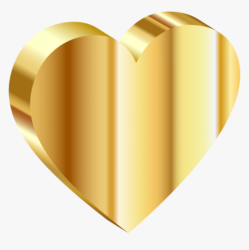 Gold Heart Png Image - Heart Of Gold Png, Transparent Png, Free Download
