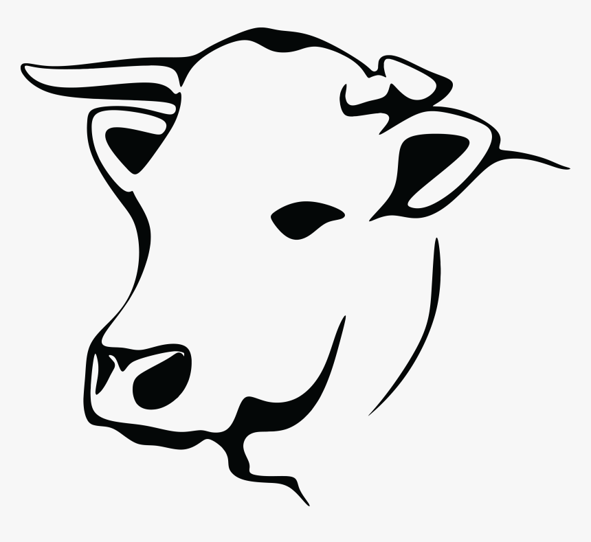 Free Clipart Of A Black And White Cow Line Art Cow Png Transparent Png Kindpng