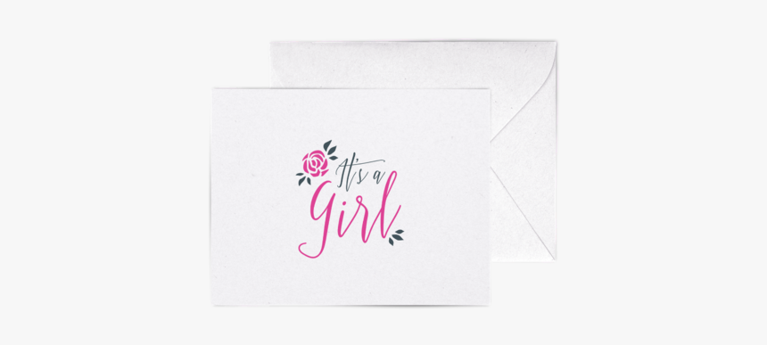 """It""""s A Girl A2 Letterpress Cards""""     Data Rimg=""""lazy""""  - Calligraphy, HD Png Download, Free Download"""