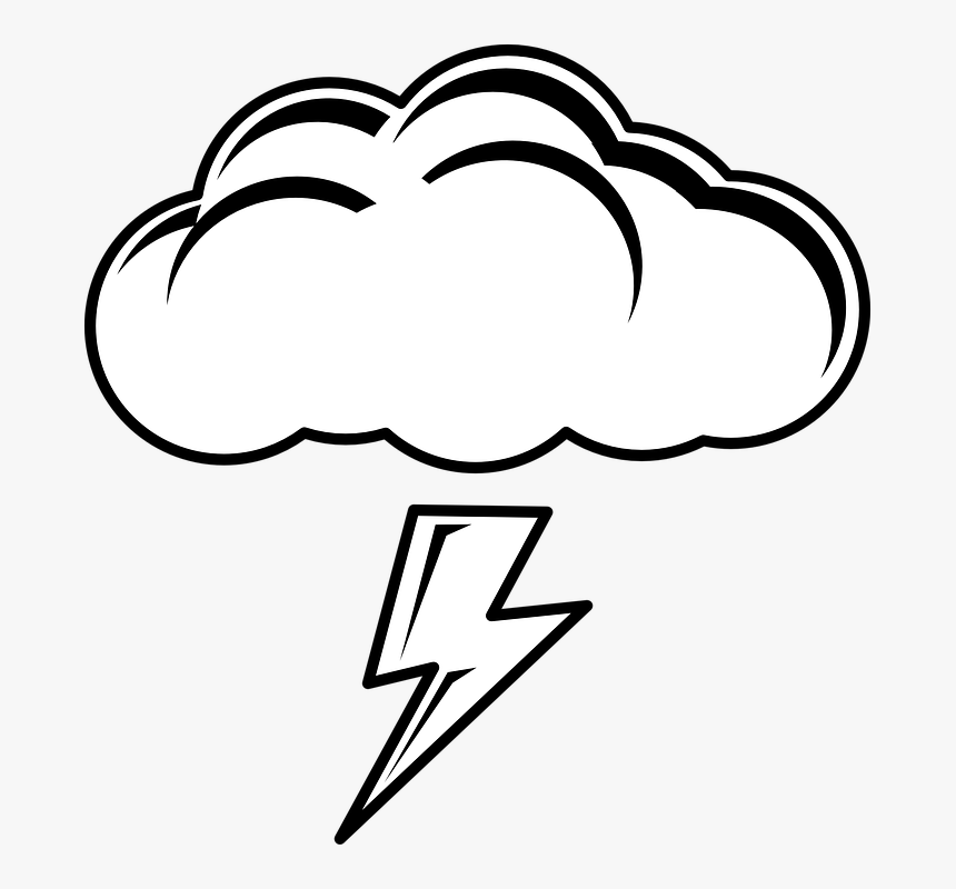 Cloud Clipart Black And White Png, Transparent Png, Free Download