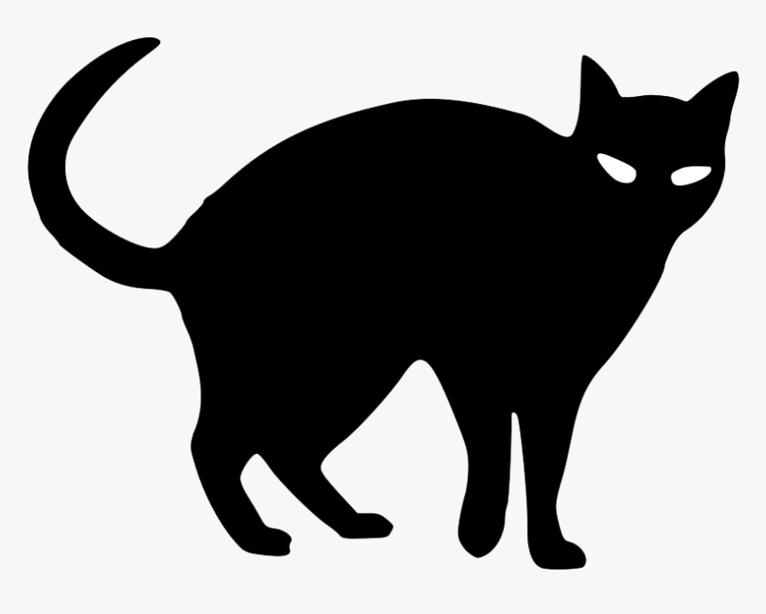 Abstract Black Cat Png Photo - Halloween Black Cat Drawings, Transparent Png, Free Download