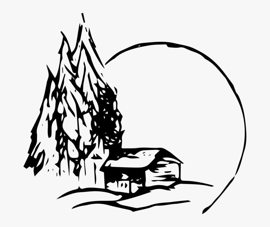 Goosemooncabin The Cabin 01 Cartoon Cabin Drawing Hd Png Download Kindpng