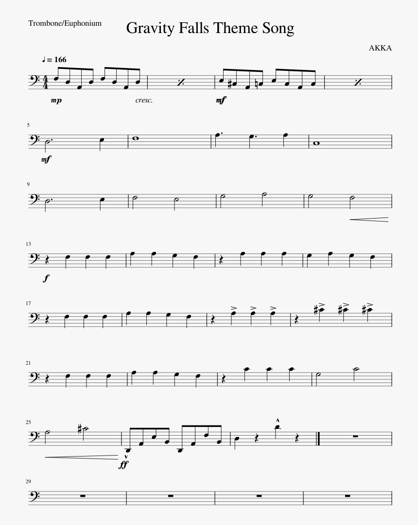 Euphonium Songs For Beginners, HD Png Download, Free Download