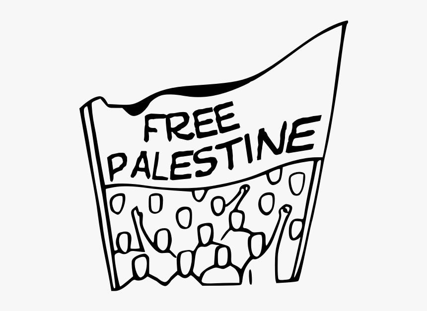Free Palestine Banner Vector - Protest Sign Clip Art, HD Png Download, Free Download